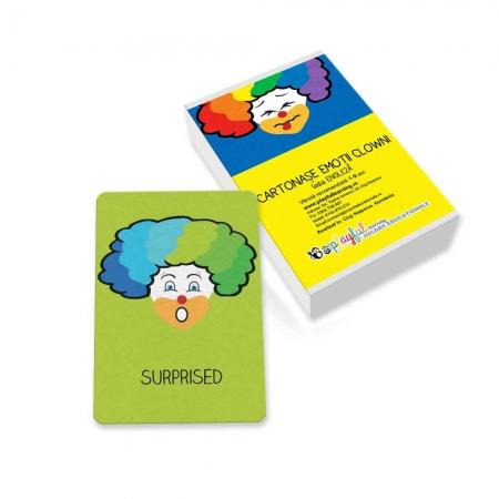 Cartonase Emotii clowni engleza