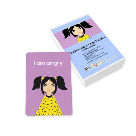 Cartonase emotii familie engleza